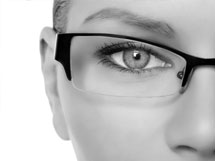 A photograph of a woman wearing a Supra frame.